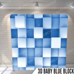 3d baby blue blocks pillow G
