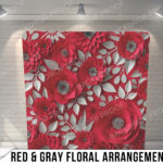 Pillow_RedGrayFloral_G