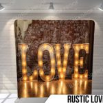 Rustic Love Pillow G