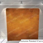 autumn painted canvas G pillow