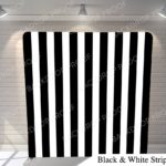 black and white strip pillow G