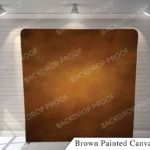 brown painted canvas G pillow