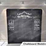 chalkboard wedding G pillow