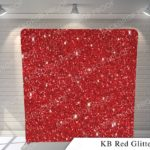 kb red glitter G pillow