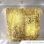 large gold sequin pillow G