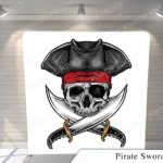 pirate swords pillow G