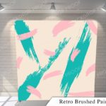 retro brushed paint pillow G