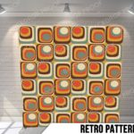 retro pattern pillow g