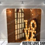 rustic love sign pillow g