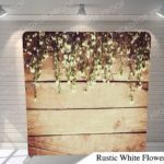 rustic white flowers pillow G