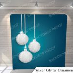 silver glitter ornaments pillow G