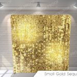 small gold sequins G Pillow