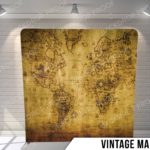 vintage map pillow G