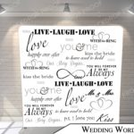 wedding words pillow G