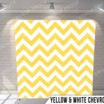 yellow & white chevron pillow G